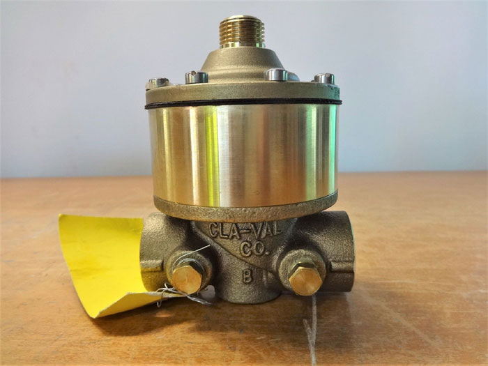 "LOT OF (2) CLA-VAL 1/2"" NPT POWERTROL BRASS VALVE 100-02-177B"