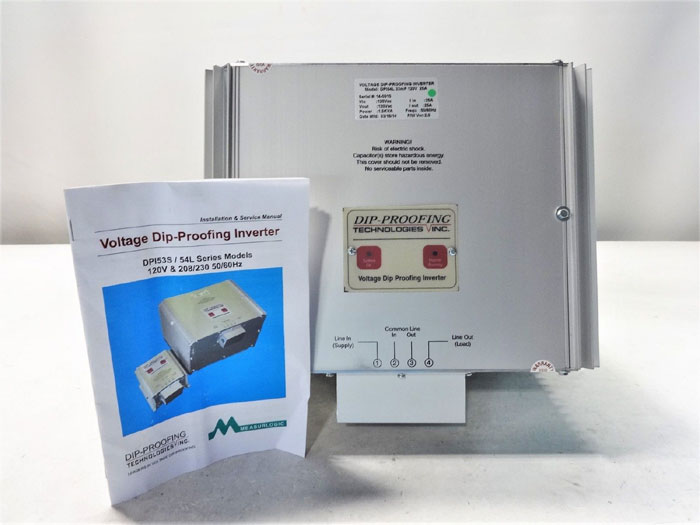MEASURELOGIC DIP-PROOFING TECH VOLTAGE DIP-PROOFING INVERTER DPI54L 33mF 120V 2A