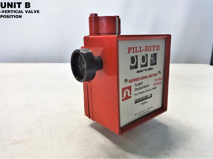 TUTHILL FILL-RITE SERIES 800A MECHANICAL FLOW METER