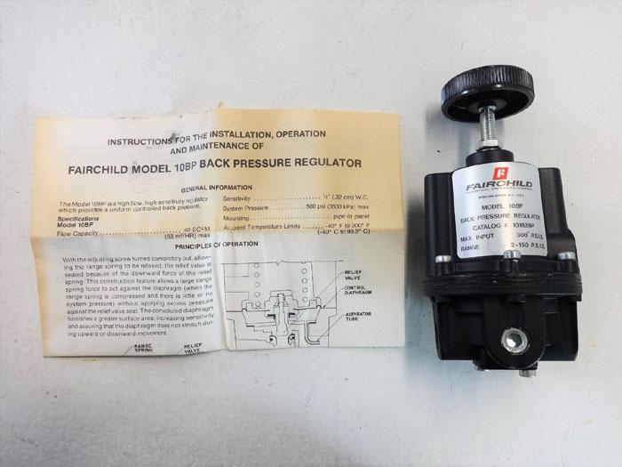 FAIRCHILD BACK PRESSURE REGULATOR MODEL# 10BP, CAT# 10162BP