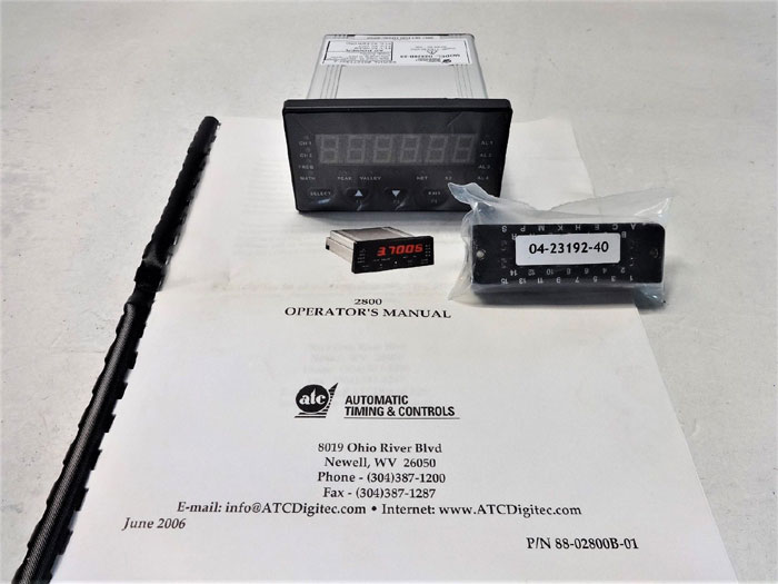 ATC (AUTOMATIC TIMING & CONTROLS) 2800 SERIES 6-DIGIT PROCESS METER D2820B-23