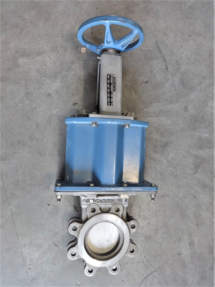 "DEZURIK 4"" 150# CF8M KNIFE GATE VALVE, FIG# KGS, PART# 9361692"