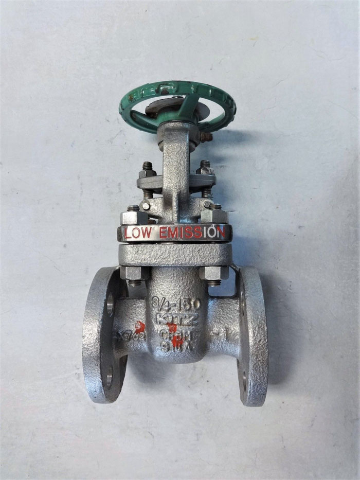 "KITZ 3/4"" FLANGED 150# CF8M GATE VALVE, FIG# 150UMAM"