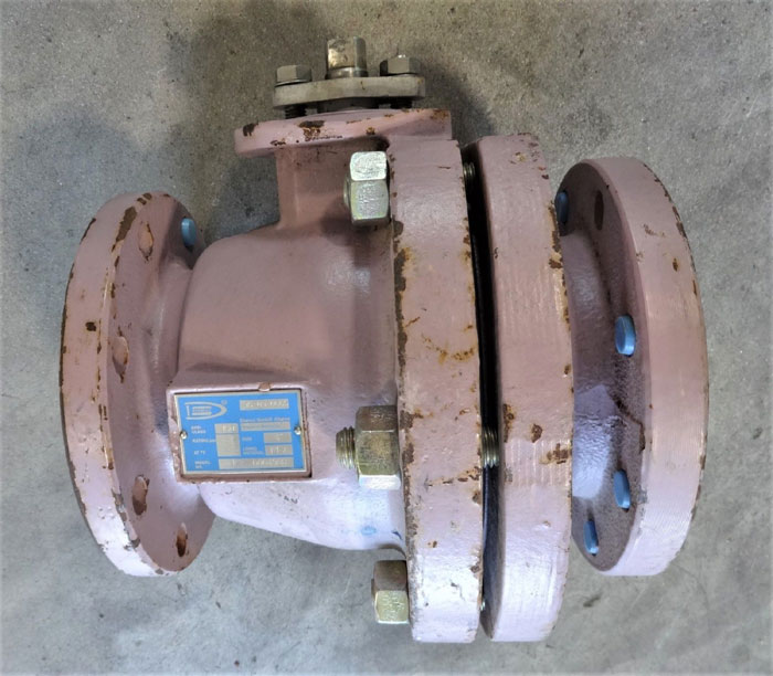 "ATOMAC 4"" 150# PFA LINED BALL VALVE, MODEL# AK2 0004908"
