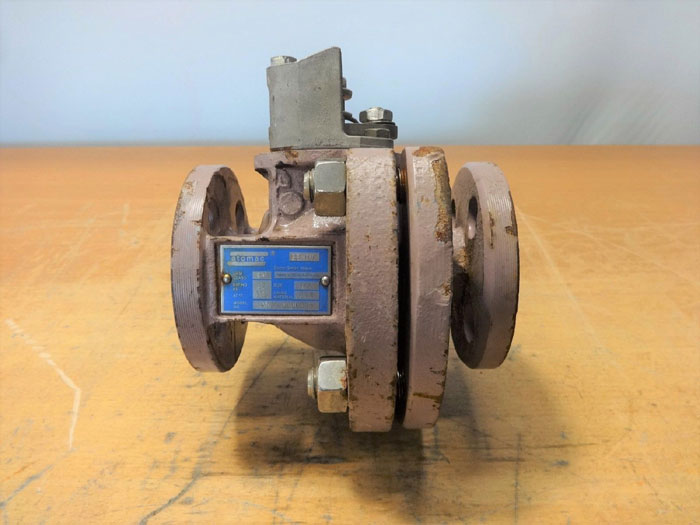 "ATOMAC 1/2"" 150# PFA LINED BALL VALVE, MODEL# AK2 0000035"