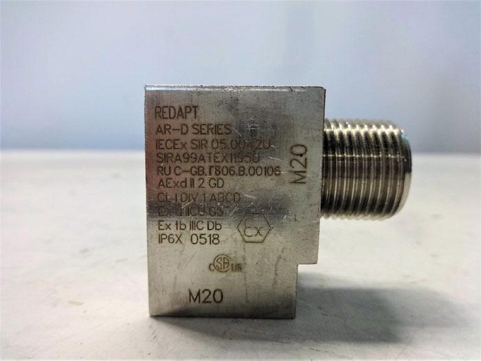 LOT OF (2) EATON REDAPT AR-D SERIES 90 DEGREE ADAPTER M20