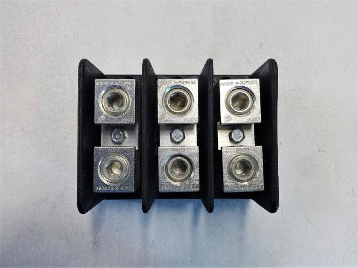 LOT OF (2) ILSCO PDB-11-350-3 POWER DISTRIBUTION BLOCKS, 310A, 3-POLE, 600V