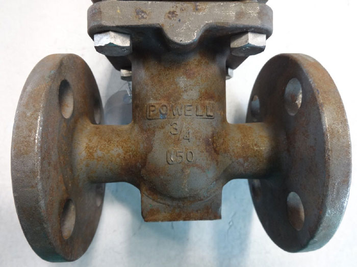 "POWELL 3/4"" 150# CN7M (ALLOY 20) FLANGED GATE VALVE, FIG# 2495 A-20"