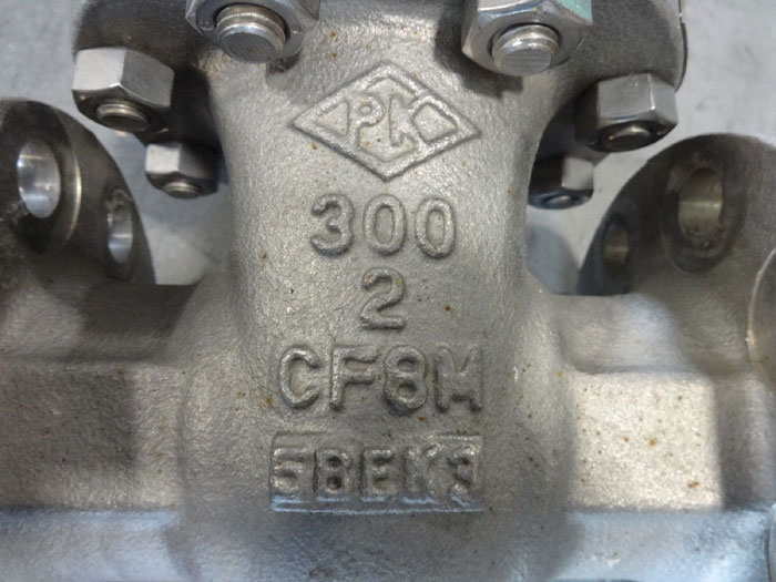 """PK VALVE 2"""" 300# CF8M FLANGED GATE VALVE, FIG# 300RF12SH-GRF API600"""
