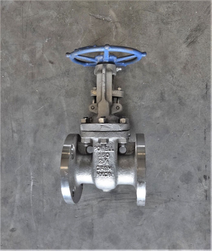 "POWELL 2-1/2"" 150# CF8M FLANGED GATE VALVE, FIG# 2456"
