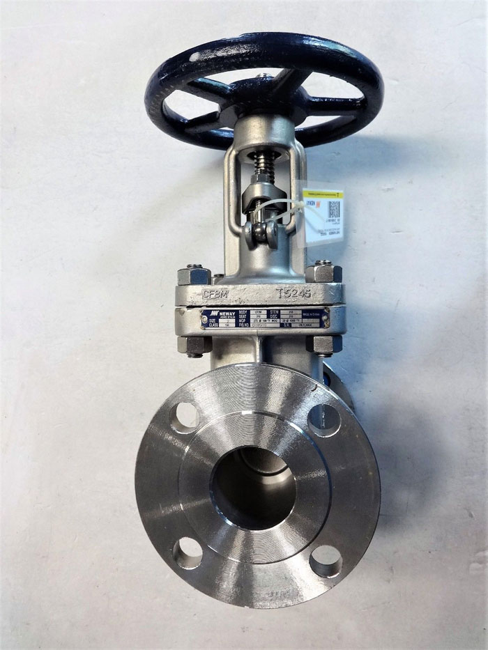 "NEWAY 2"" 150# CF8M GATE VALVE, FIG# G1RG10"