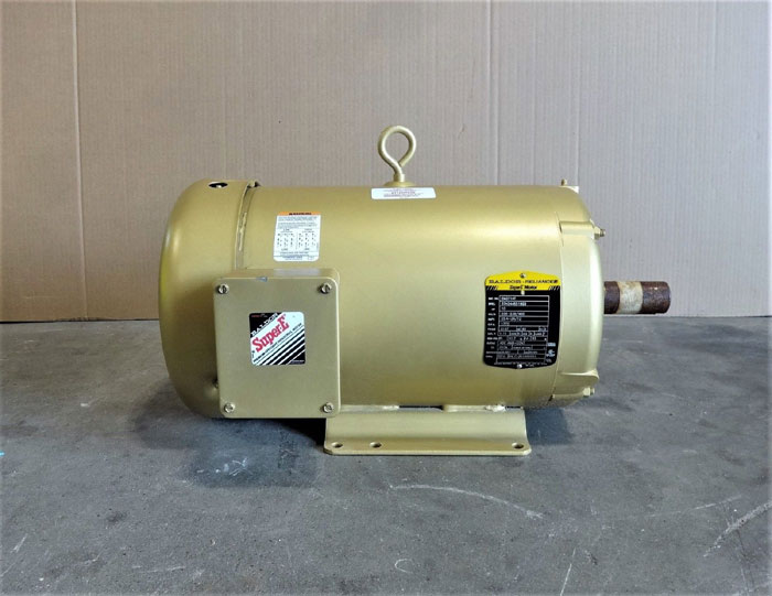 BALDOR RELIANCE SUPER E MOTOR 10 HP, 1770 RPM, CAT# EM3714T, SPEC# 37H244S518G3
