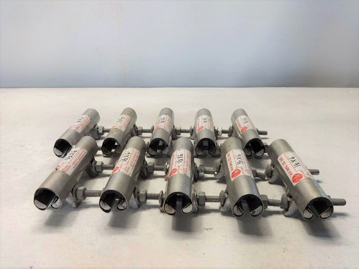 """H-V MFG. CO. JIFFY PIPE REPAIR CLAMPS 1/2"""" X 6"""" - LOT OF (10)"""