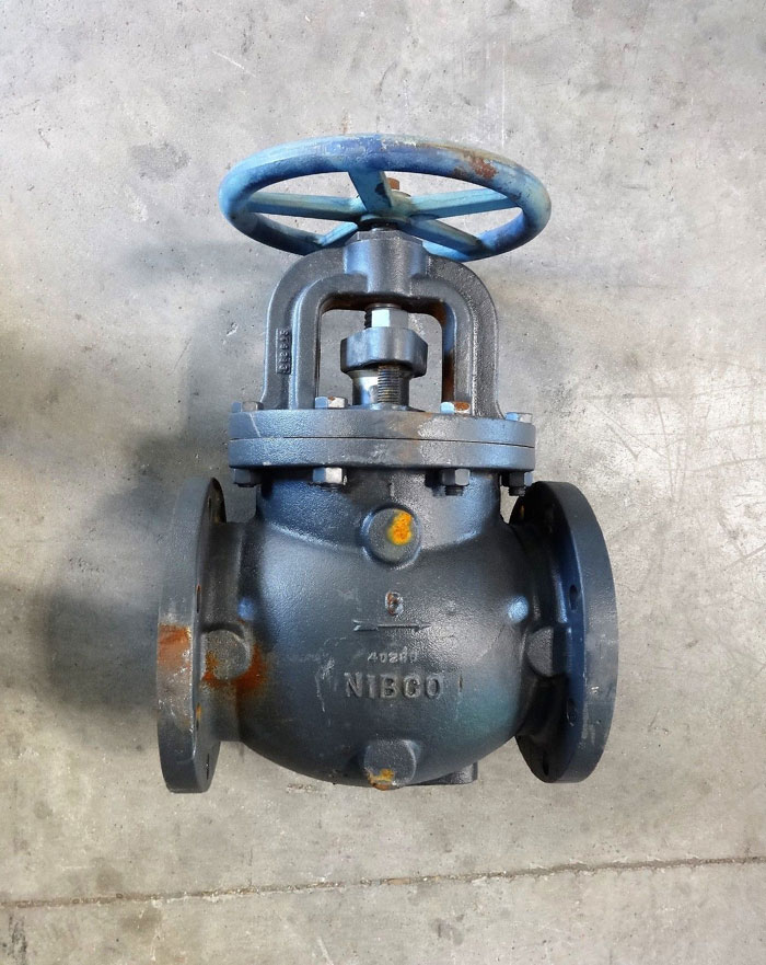 "NIBCO 6"" CARBON STEEL FLANGED GLOBE VALVE, 125 SWP, 200 WOG, FIG# F-718-N"