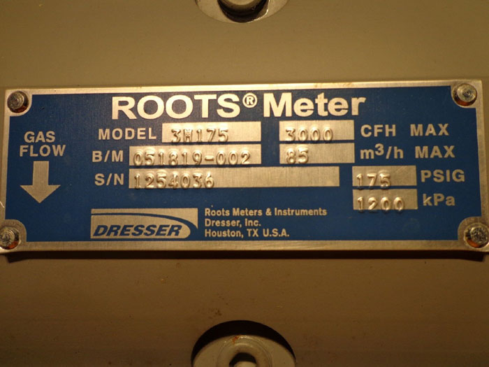 DRESSER ROTARY ROOTS METER 3M175