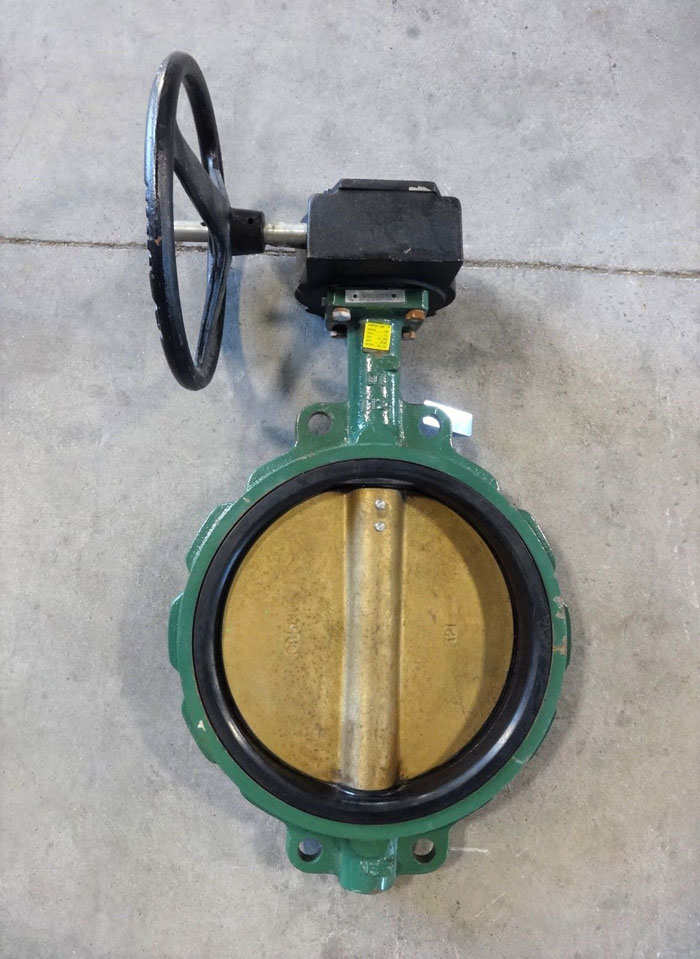 """CENTER LINE 12"""" GEAR OPERATED BUTTERFLY VALVE, DUCTILE IRON BODY, ALUM BRZ DISC"""