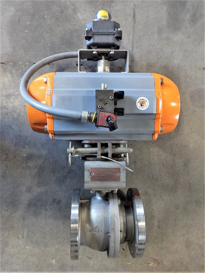"""BAC 4"""" 150# ACTUATED FULL PORT BALL VALVE, CF8M, AIRTORQUE PT550 & ULTRA SWITCH"""