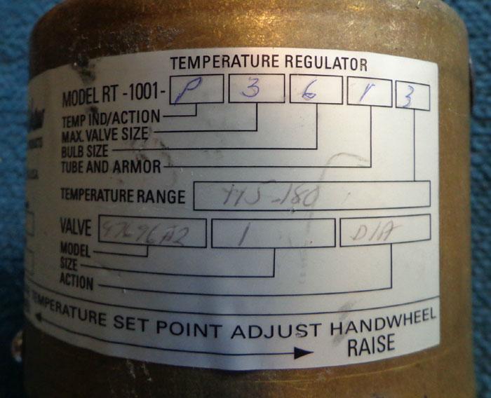 "ROBERTSHAW 1"" TEMPERATURE REGULATOR VALVE RT-1001-P3613"