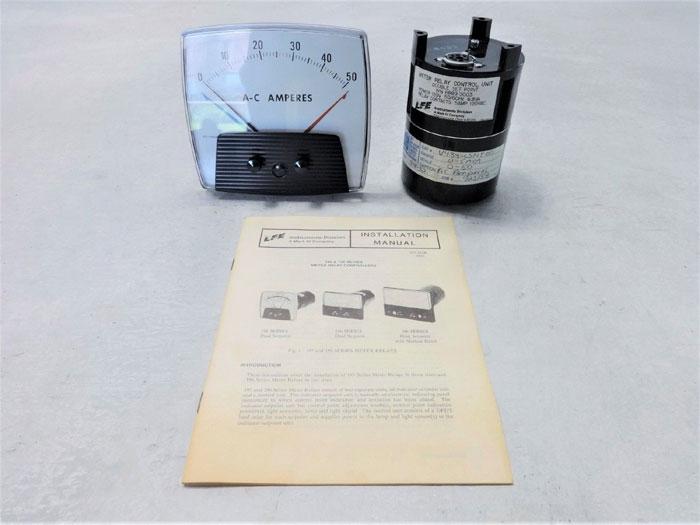 LFE SERIES 195 METER RELAY, 0-50 AC AMP RANGE, W/ RELAY CONTROL 8889-3003