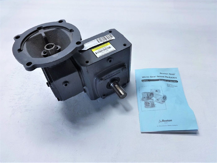 BOSTON GEAR SERIES 700 RIGHT ANGLE REDUCER FWC718-300-B5-6, C-FACE QUILLED