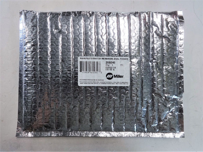 MILLER 266046 NAMEPLATE SWITCH MEMBRANE DUAL FEEDER *SEALED*