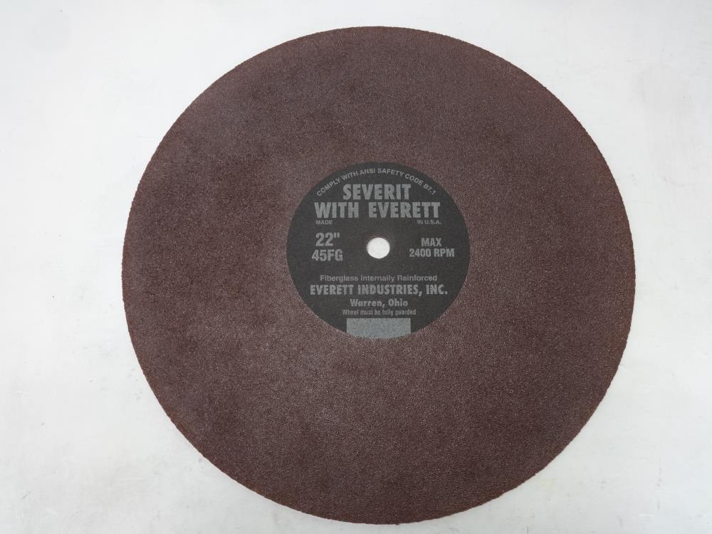 "Everett Severit 22"" Dry Cutting Cut-Off Wheel 45FG - Set of (5) pcs"