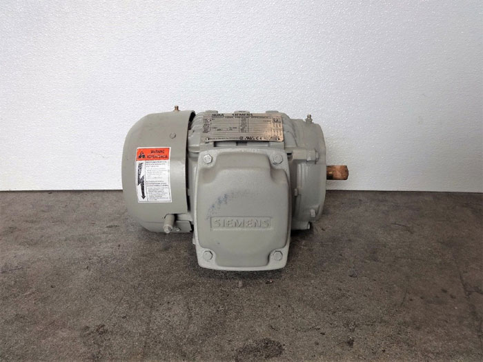 Siemens Type SD100 NEMA Premium Efficiency Motor 1LE23211AB214EA3, 1HP, 1755RPM