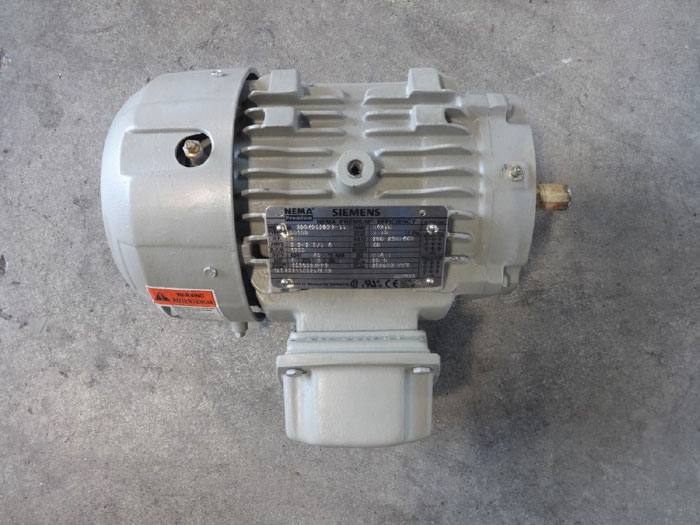 Siemens Type SD100 NEMA Premium Efficiency Motor 1LE23211AB214EA3, 1HP, 1755RPM