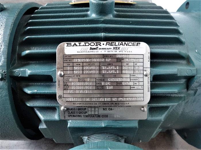 Baldor Reliance 5HP Super E Severe Duty XEX Motor B506077