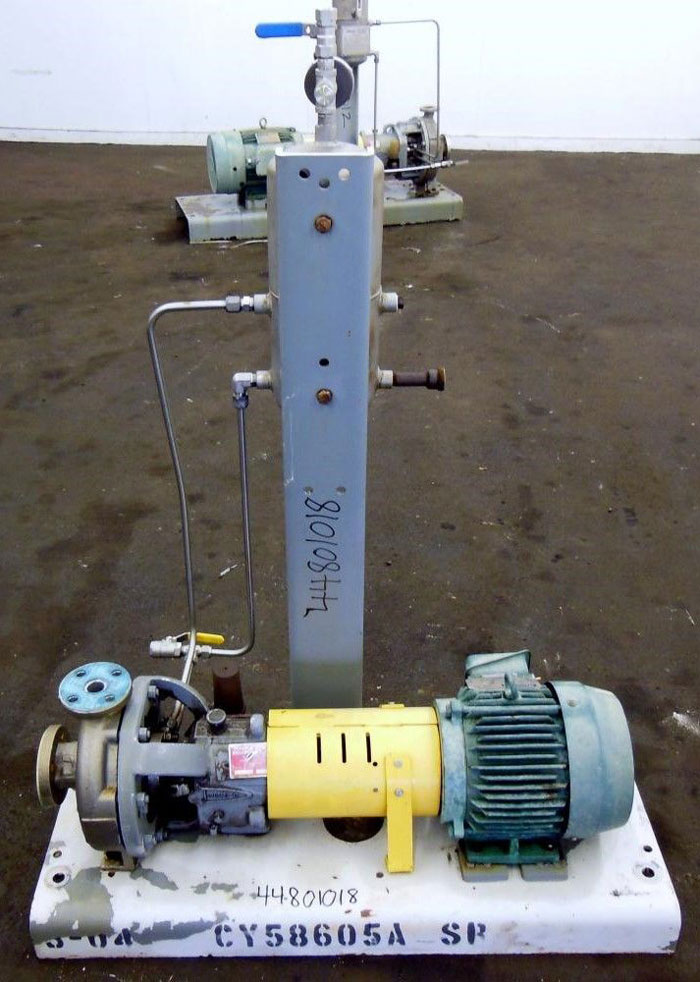 Flowserve Durco Mark 3 Centrifugal Pump, MK3 STD, 1K1.5X1-82/6.63RV, CD4M Mat'l