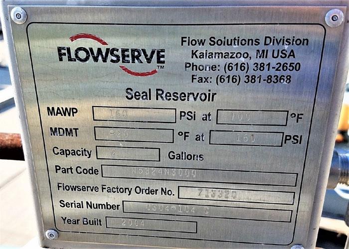 Flowserve Durco Mark 3 Centrifugal Pump, MK3 STD, 1K1.5X1-82/6.63RV, CD4M Mat'l