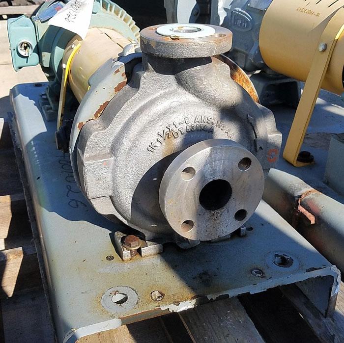 Flowserve Durco Mark 3 Centrifugal Pump, MK3 STD, Size 1K1.5X1-62/4.00RV, CF8M