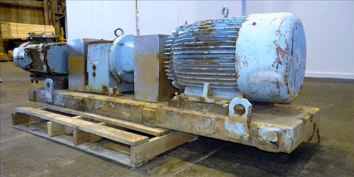 """Waukesha 6"""" Rotary Positive Displacement Pump, Model 320, Stainless (47384102)"""