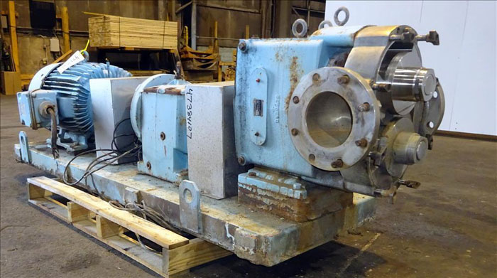 """Waukesha 6"""" Rotary Positive Displacement Pump, Model 320, Stainless (47384107)"""