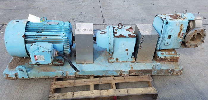 "Waukesha 6"" Rotary Positive Displacement Pump, Model 320, Stainless (47384107)"