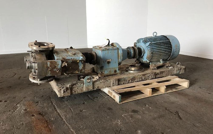 "Waukesha 6"" Rotary Positive Displacement Pump, Model 320, Stainless (47384098)"