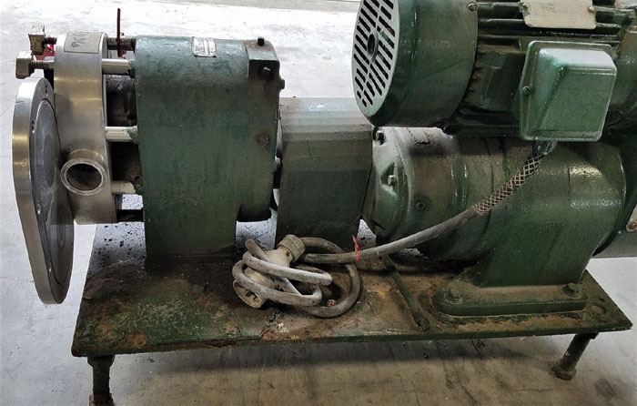 Tri-Clover PR Series Positive Rotary Pump, Model PRE60-2M-UH4-SL-S, Stainless