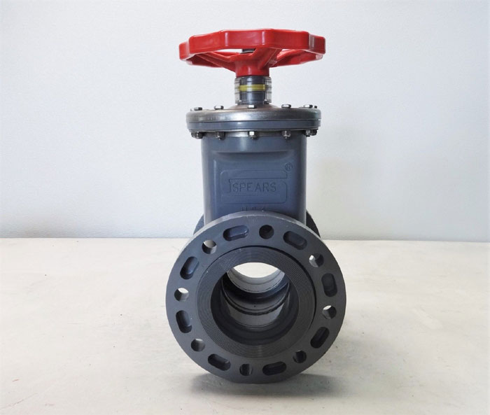 "Spears 4"" CPVC Flanged Gate Valve 2033-040C"