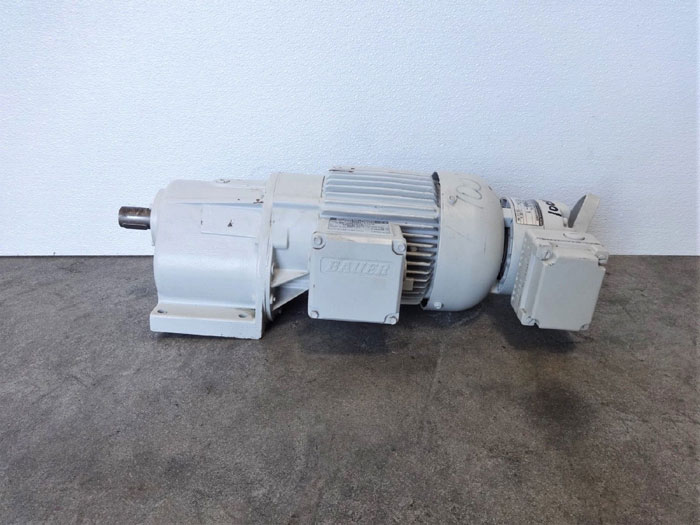 Eberhard Bauer Spur Gear Motor G02-11/DPK8122-200L-H with Brake GBR 50 GS-HL