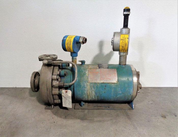 Crane Chempump 1.5 x 1 x 8-1F Seal-less Pump, Stainless Steel NC-AA-8N2-1S