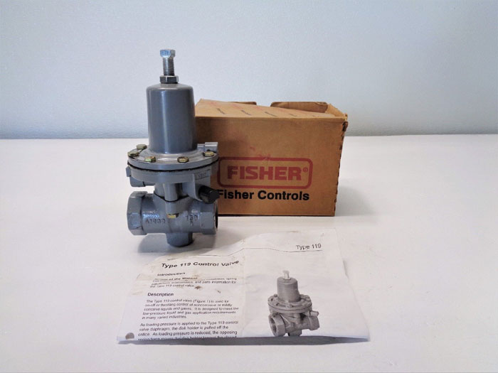 "Fisher 1"" Control Valve 119-12"