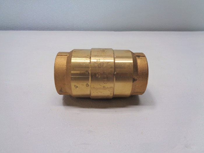 "Strataflo 2"" NPT Check Valve, #375, 200 LB, Bronze w/ Rubber Poppet *Lot of (2)*"