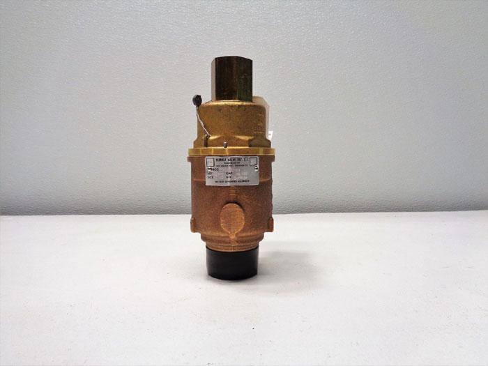 "Kunkle 1-1/2"" NPT Safety Relief Valve, Brass, 0020-G01-MG"