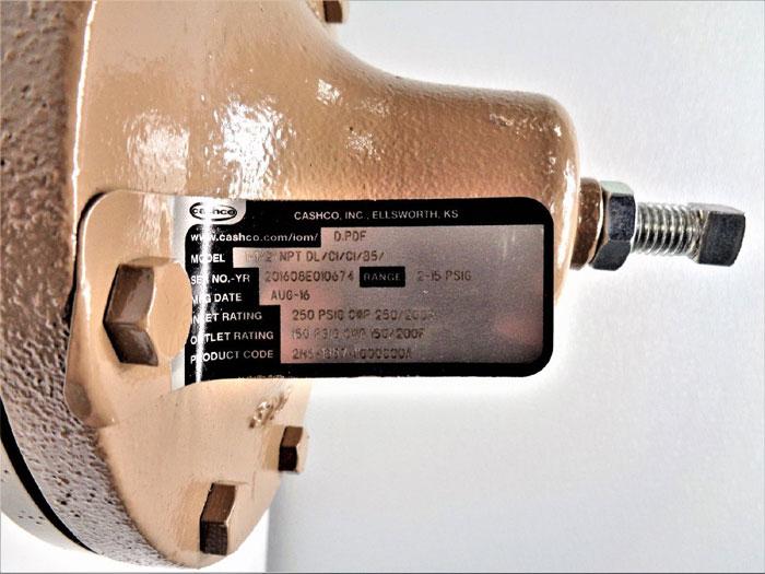 "Cashco Pressure Reducing Regulator, 1-1/2"" NPT DL/CI/CI/B5, 2H8-1B57-11000000A"