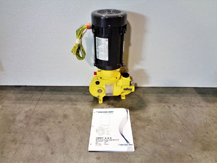 Milton Roy Metering Pump MRA11D245XAPPNSNNY, 1.20GPH, 1800PSI, 1.70 GPH, 100 PSI