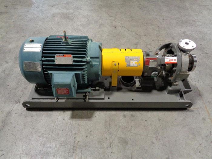 Flowserve Durco Mark 3 Centrifugal Pump, MK3 Lo-Flo, 1K1.5X1LF-82 OP/7.07 D4CF8M