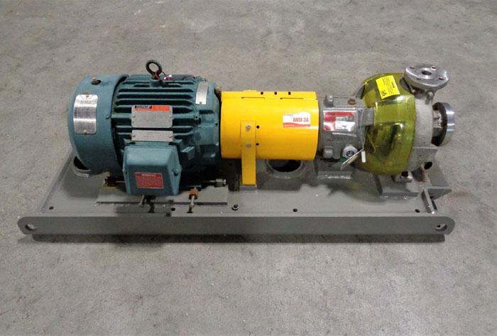 Flowserve Durco Mark 3 Centrifugal Pump, MK3 Lo-Flo, 1K1.5X1LF-82 OP/5.57 D4CF8M