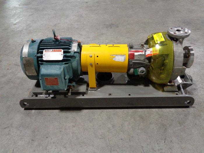 Flowserve Durco Mark 3 Centrifugal Pump, MK3 STD, 1K1.5X1LF-82 OP/5.32, D4 CF8M