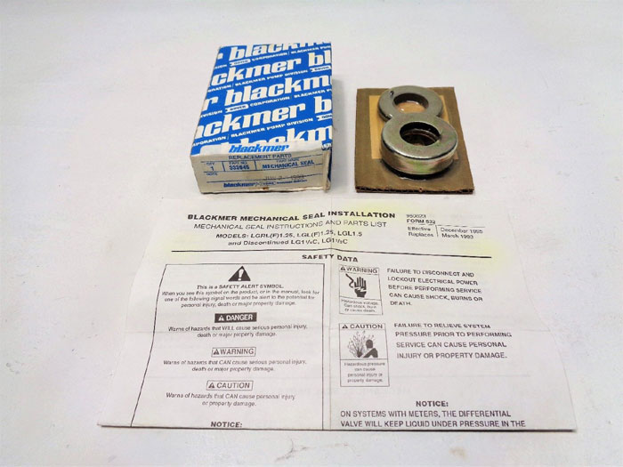 Blackmer 333045 Mechanical Seal, Genuine Replacement Part  ***Lot of (2)***