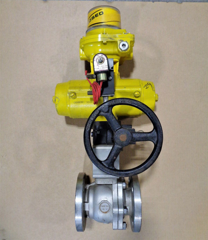 "Flow-Tek 3"" 150# CF8M 2-Pc Full Port Ball Valve w/ Hytork 280 Actuator"